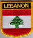 Lebanon Embroidered Flag Patch, style 07.